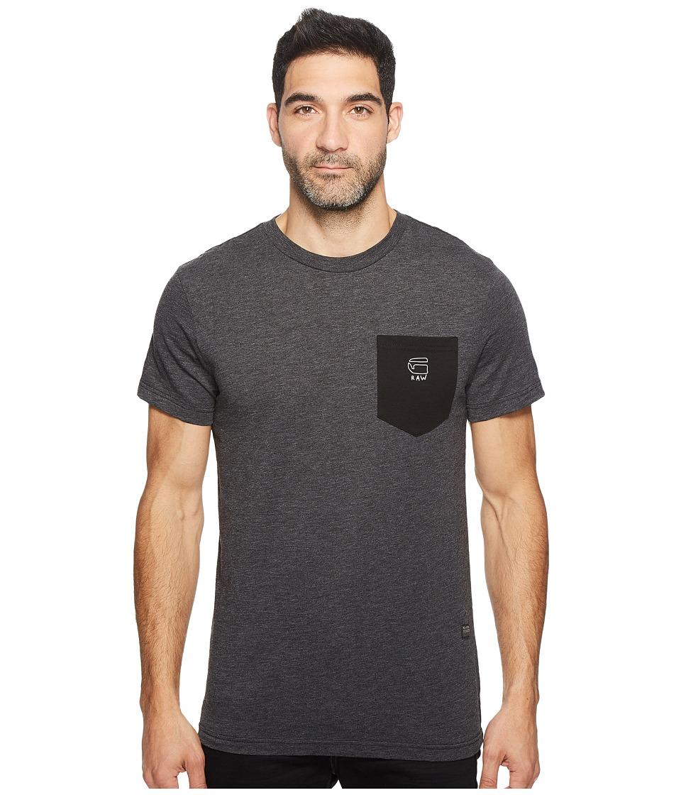 G-Star - Odiron Pocket R T Short Sleeve Jisoe Jersey (Dark Black) Men's Short Sleeve Pullover