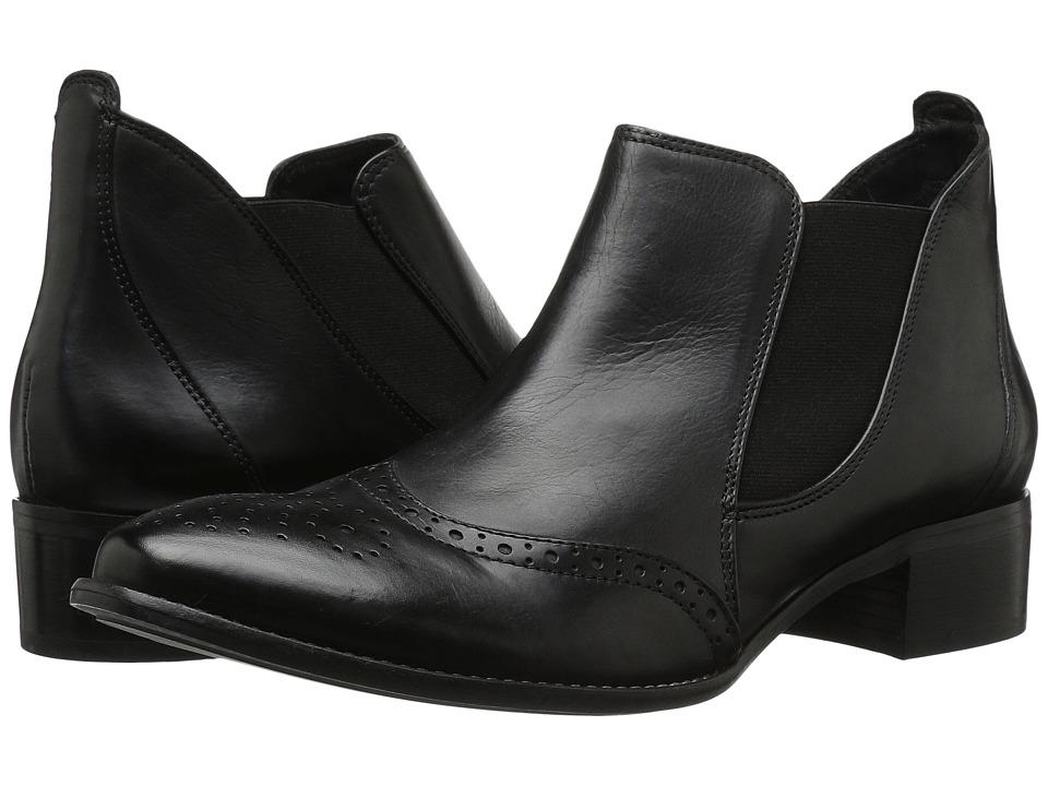 Paul Green Jay Slip-On (Black Leather) Women