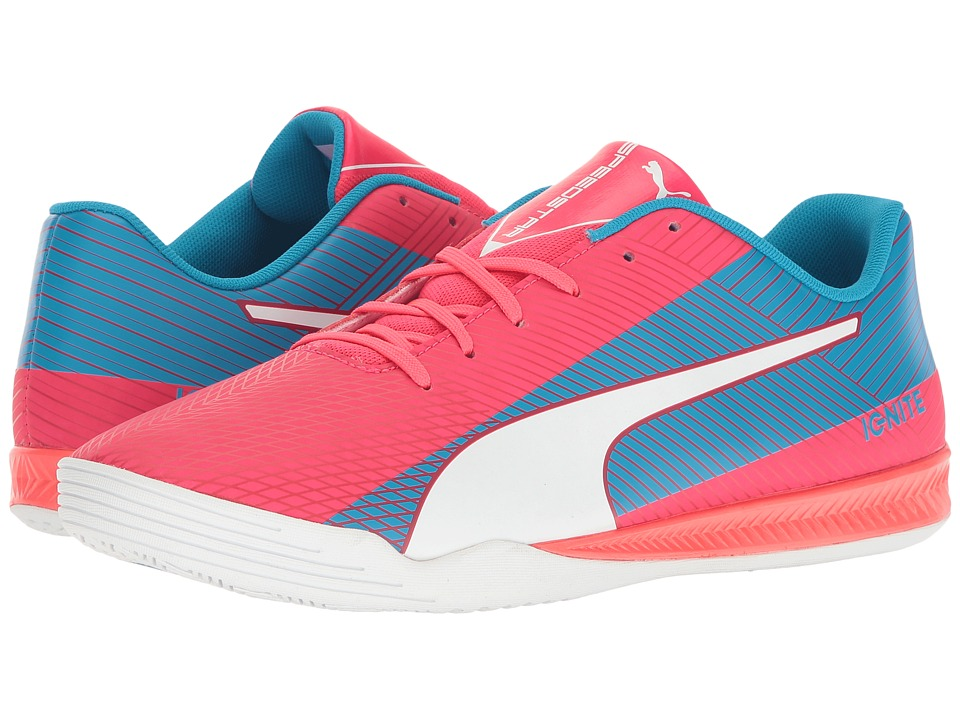 PUMA - evoSPEED Star S Ignite (Bright Plasma/PUMA White/Blue) Men's Shoes