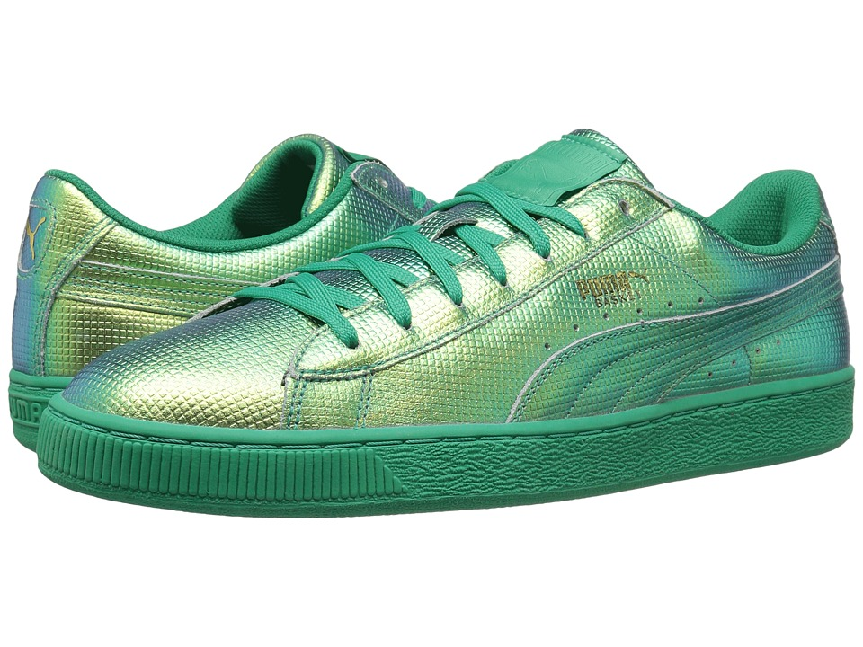 PUMA - Basket Classic Holographic (Green Flash) Men's Shoes