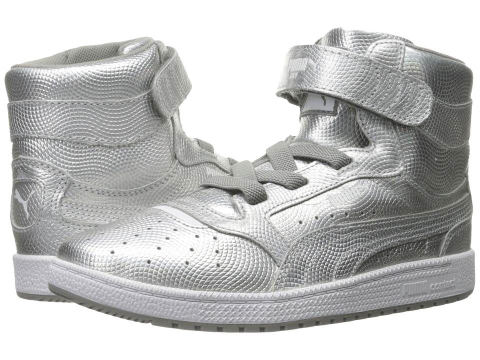 Puma Kids - Sky II Hi Holographic (Little Kid/Big Kid) (Silver) Kids Shoes