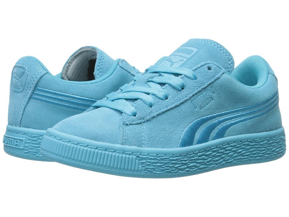 Puma Kids - Suede Classic Badge (Little Kid/Big Kid) (Blue Atoll) Kids Shoes