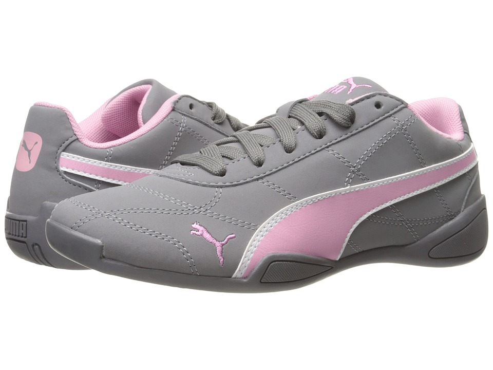 Puma Kids Tune Cat 3 Nubuck (Big Kid) (Quiet Shade/Prism Pink/PUMA White) Girls Shoes