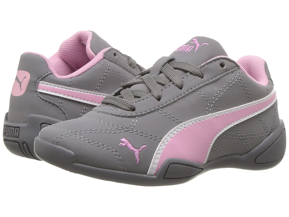 Puma Kids - Tune Cat 3 Nubuck (Little Kid/Big Kid) (Quiet Shade/Prism Pink/PUMA White) Girls Shoes