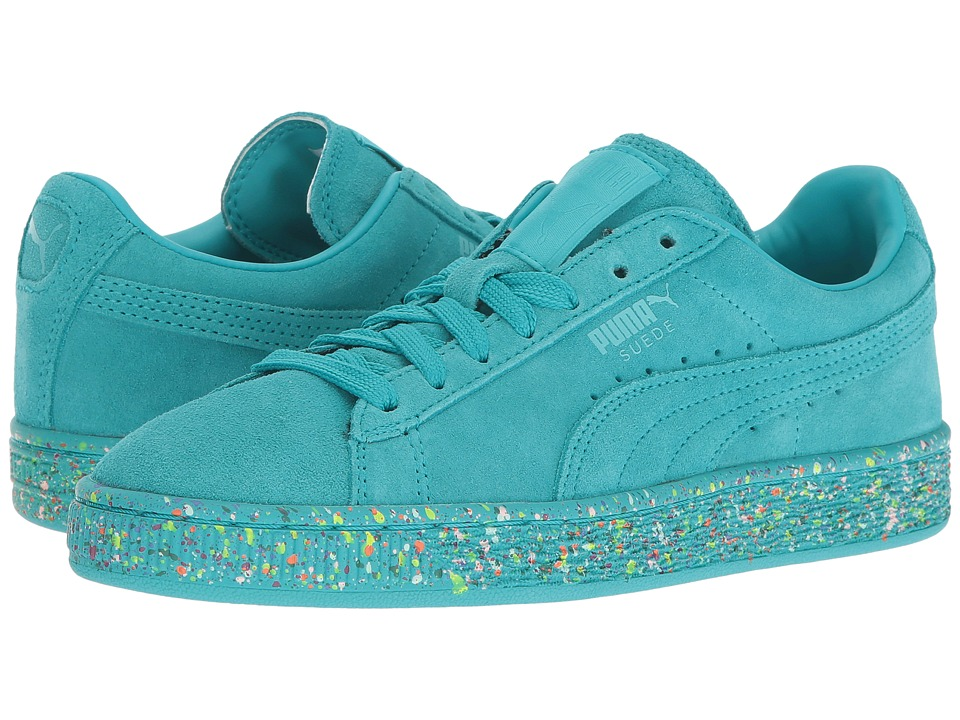 Puma Kids - Suede Classic Multi Splatter (Big Kid) (Bluebird) Kids Shoes