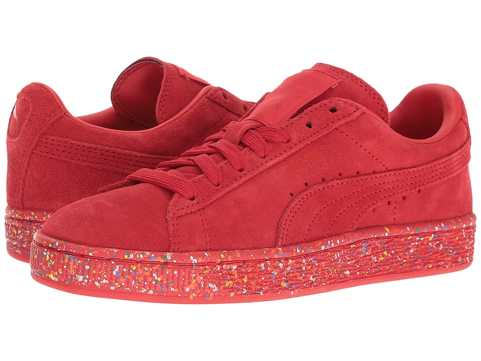 Puma Kids - Suede Classic Multi Splatter (Big Kid) (High Risk Red) Kids Shoes