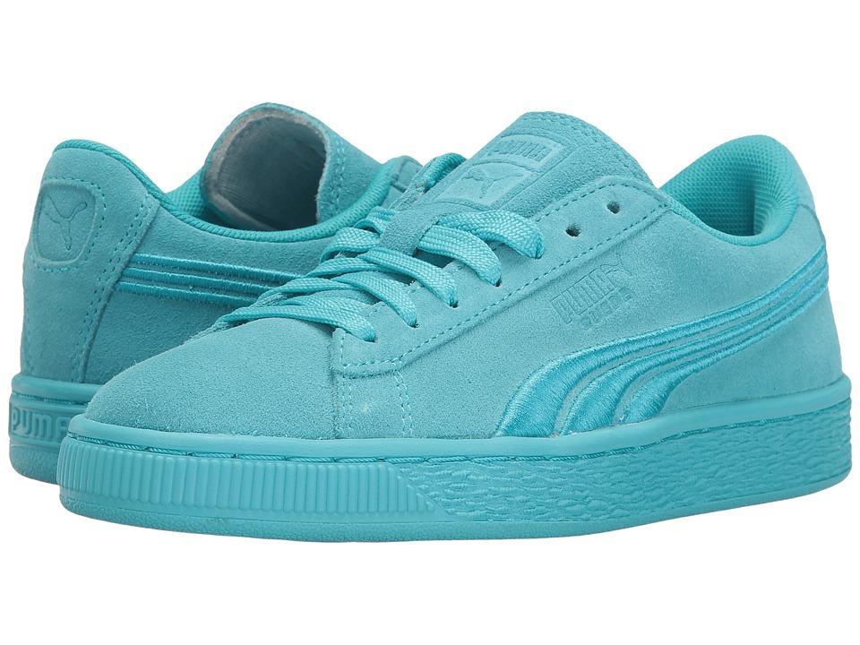 Puma Kids - Suede Classic Badge (Big Kid) (Blue Atoll) Kids Shoes