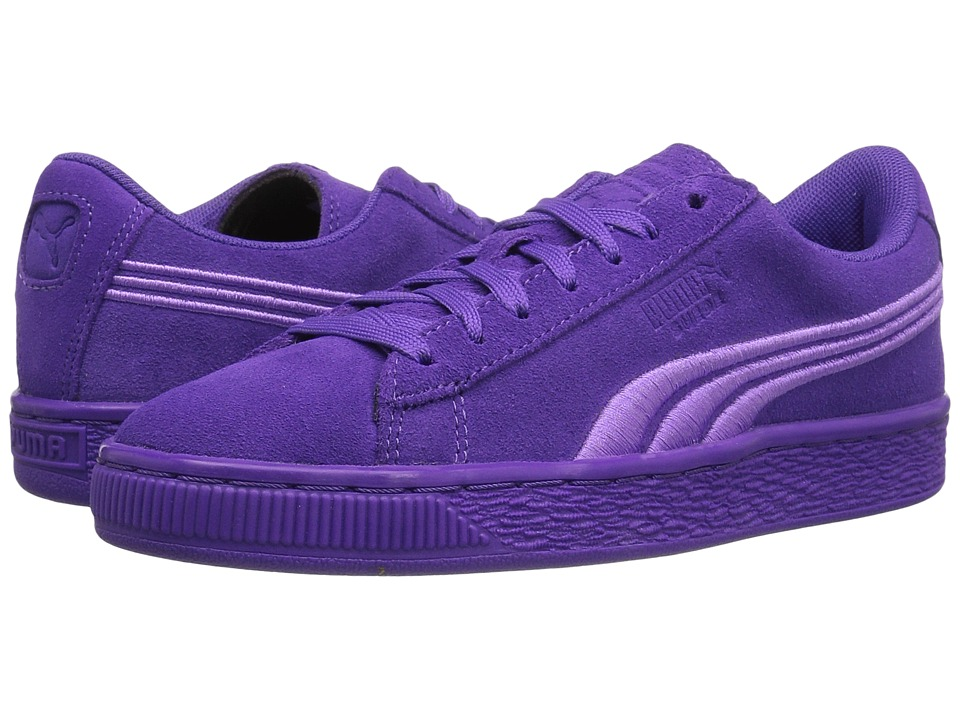 Puma Kids - Suede Classic Badge (Big Kid) (Electric Purple) Girls Shoes