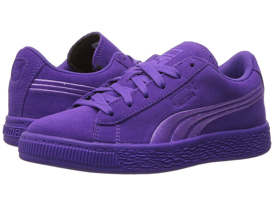 Puma Kids - Suede Classic Badge (Little Kid/Big Kid) (Electric Purple) Girls Shoes