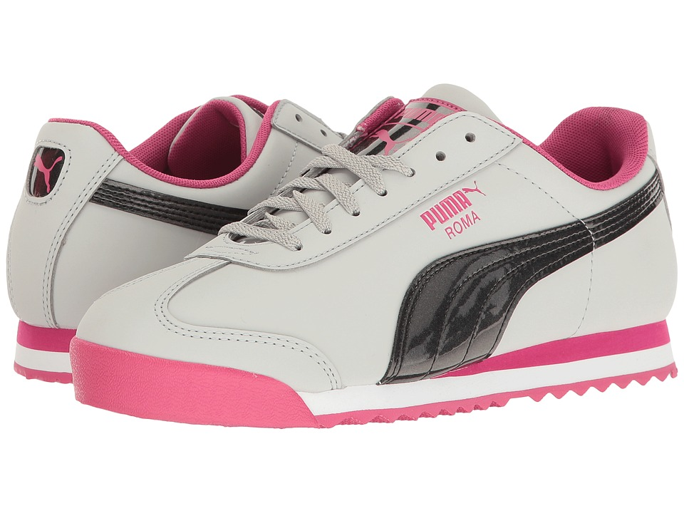 Puma Kids - Roma Iridescent Nubuck (Little Kid/Big Kid) (Gray Violet/Beetroot Purple) Girls Shoes