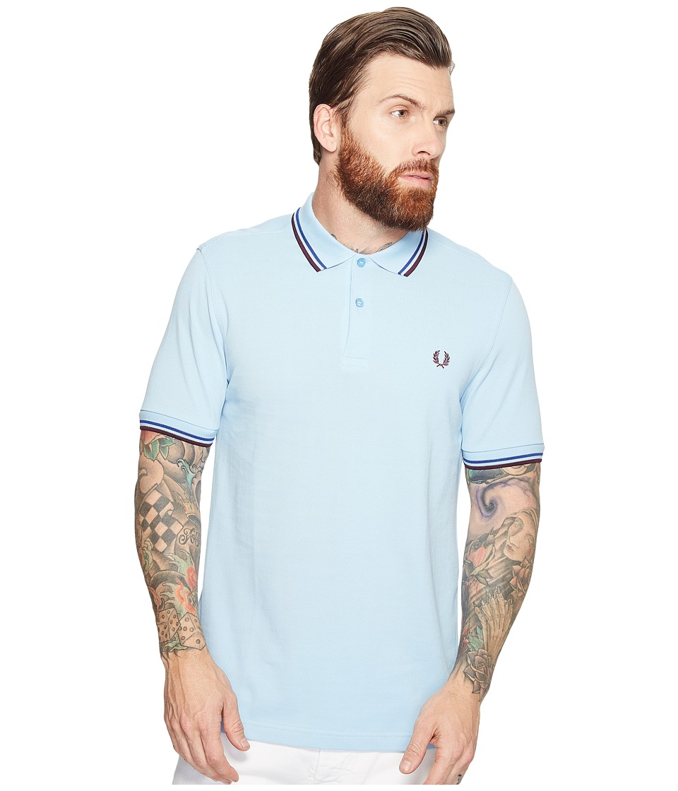 Fred Perry - Twin Tipped Shirt (Glacier/Cobalt/Bramble) Men's Short Sleeve Knit