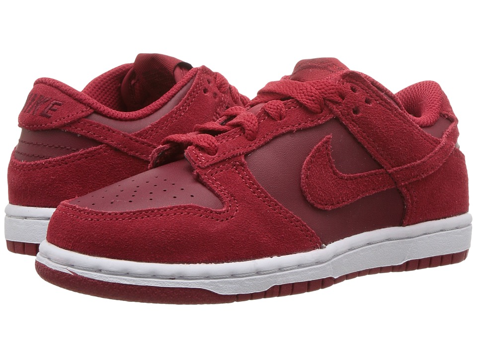 Nike Kids - Dunk Low (Toddler/Youth) (Gym Red/Gym Red/Team White) Girls Shoes