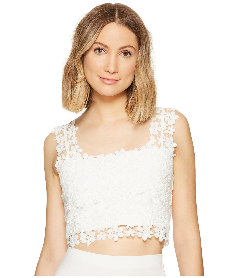 Nicole Miller - Alexa Crochet Lace Crop Top (Ivory) Women's Clothing
