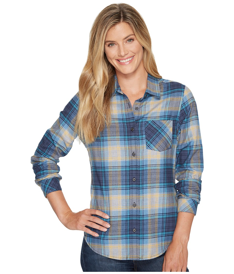 Pendleton - Frankie Flannel Shirt (Grey/Blue Plaid) Women's Clothing