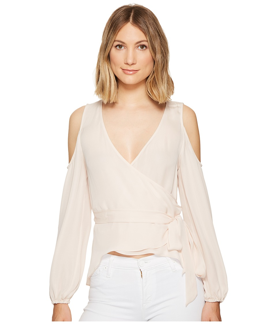 Nicole Miller - Coco Silk Wrap Blouse (Soft Pink) Women's Blouse