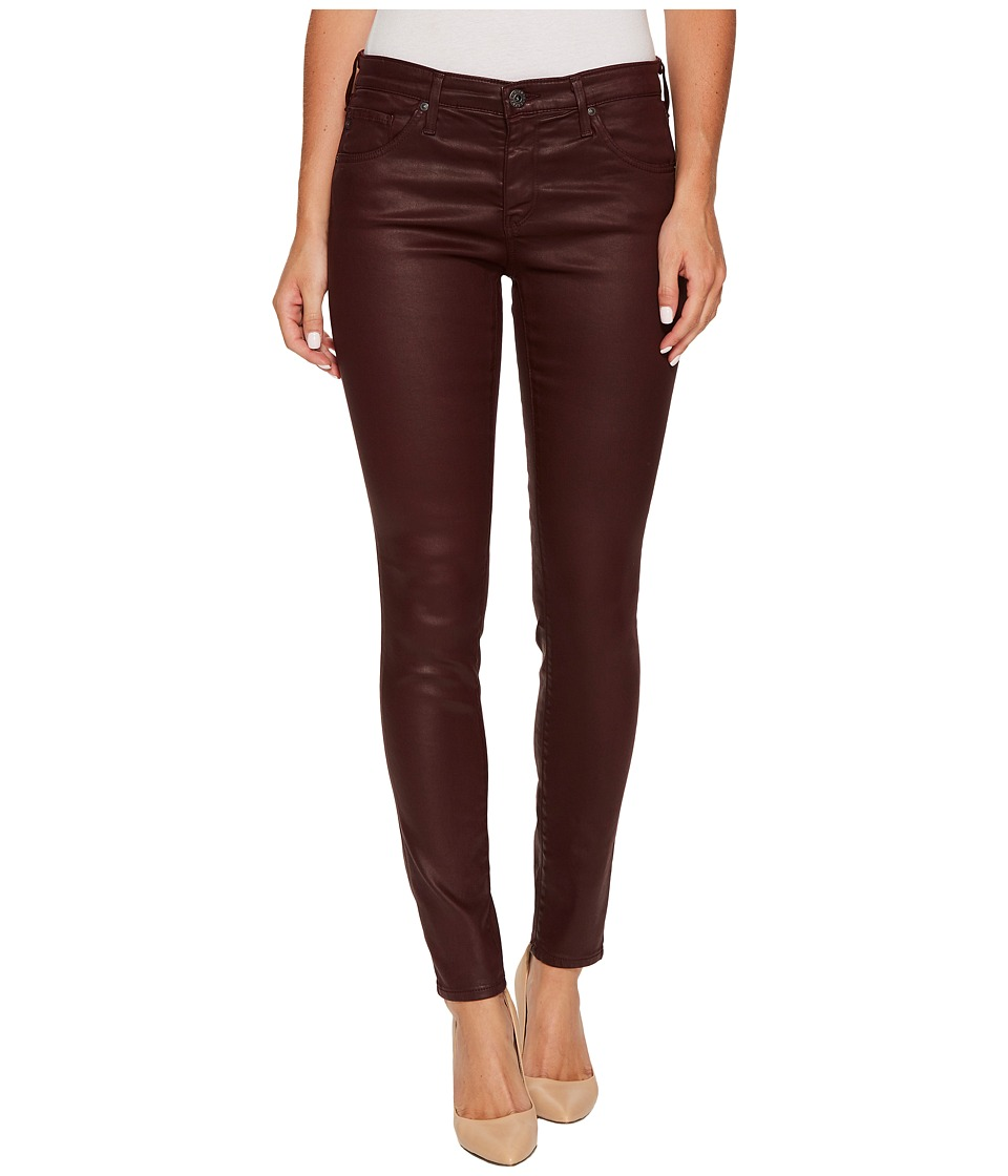 AG Adriano Goldschmied - The Leggings Ankle in Leatherette Light Deep Currant (Leatheret te LT Deep Currant) Women's Casual Pants
