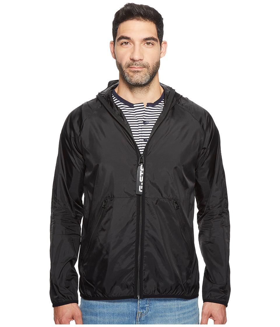 G-Star - Strett Hood Gymbag Jacket (Dark Black) Men's Coat