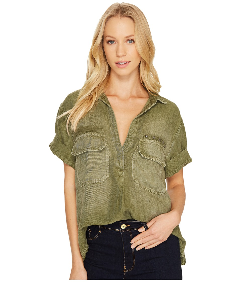 Image of AG Adriano Goldschmied - Anson Top (Sulfur Climbing Ivy) Women's Clothing