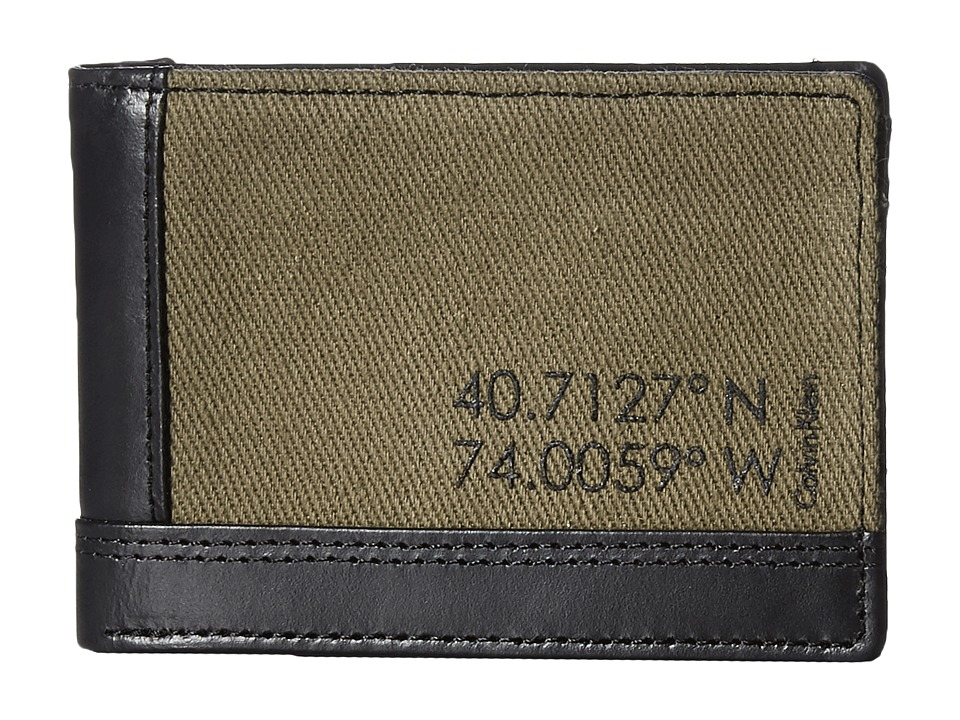 Calvin Klein - Slimfold (Green) Bill-fold Wallet