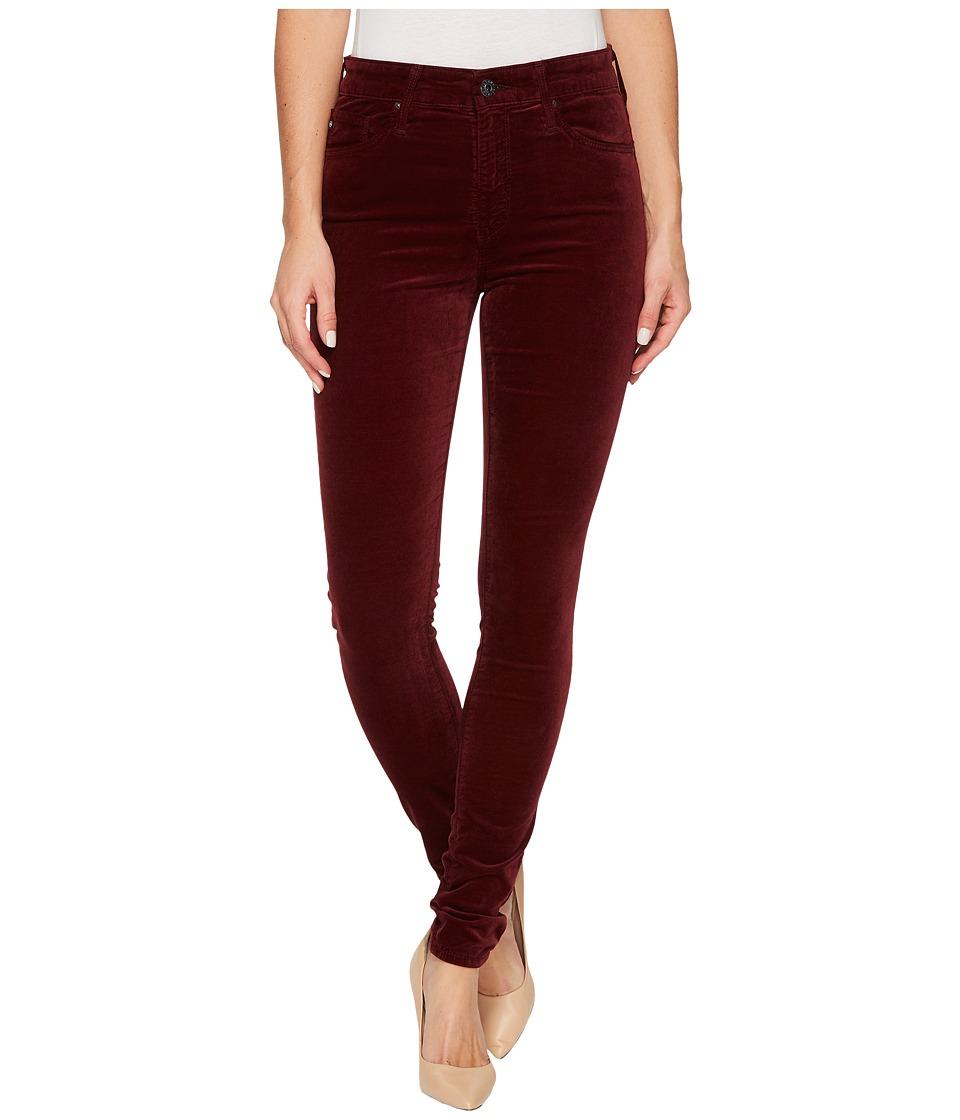 AG Adriano Goldschmied - The Velvet Farrah Skinny in Deep Currant (Deep Currant) Women's Casual Pants