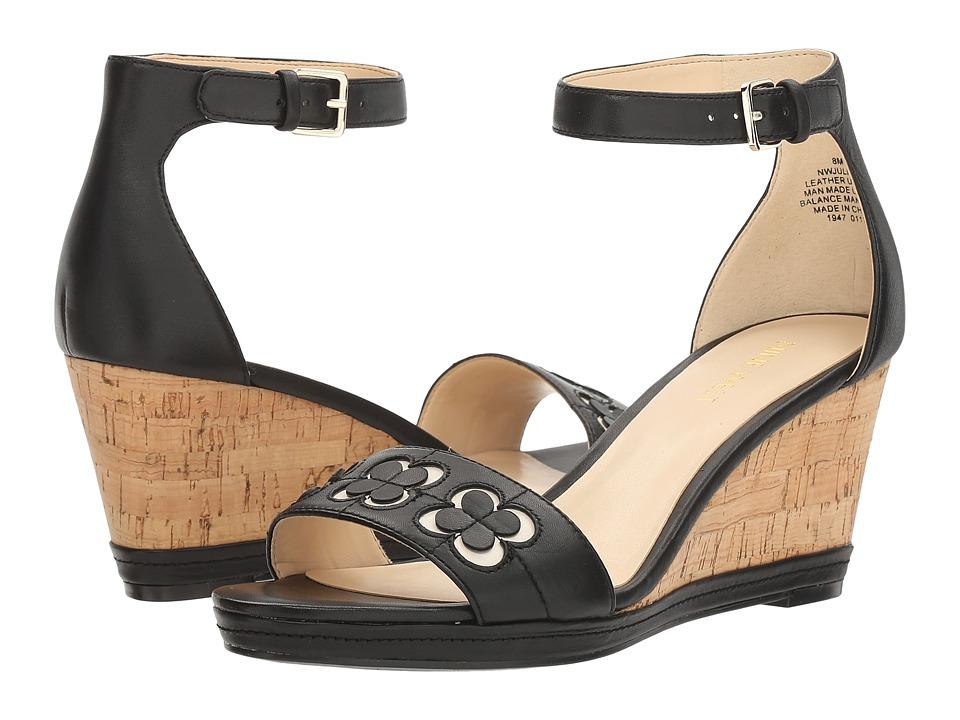 Nine West - Julian (Black Leather 1) Women's Wedge Shoes