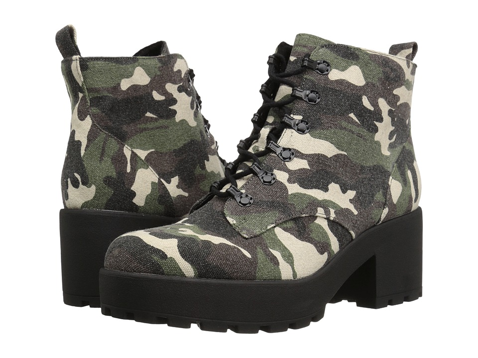 Rocket Dog - Clyden (Olive Hanger) Women's Lace-up Boots