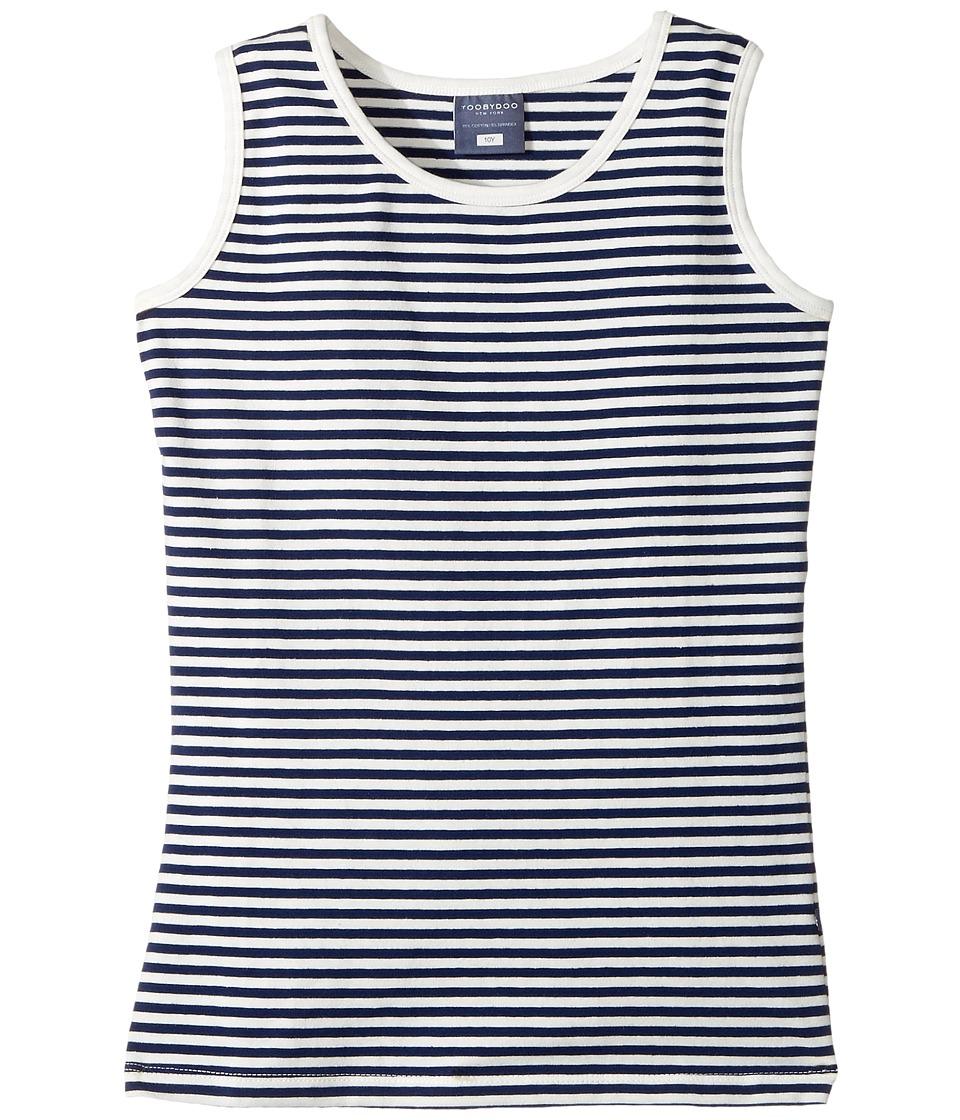 Toobydoo - Hampton's Tank Top (Toddler/Little Kids/Big Kids) (Navy/White) Girl's Sleeveless