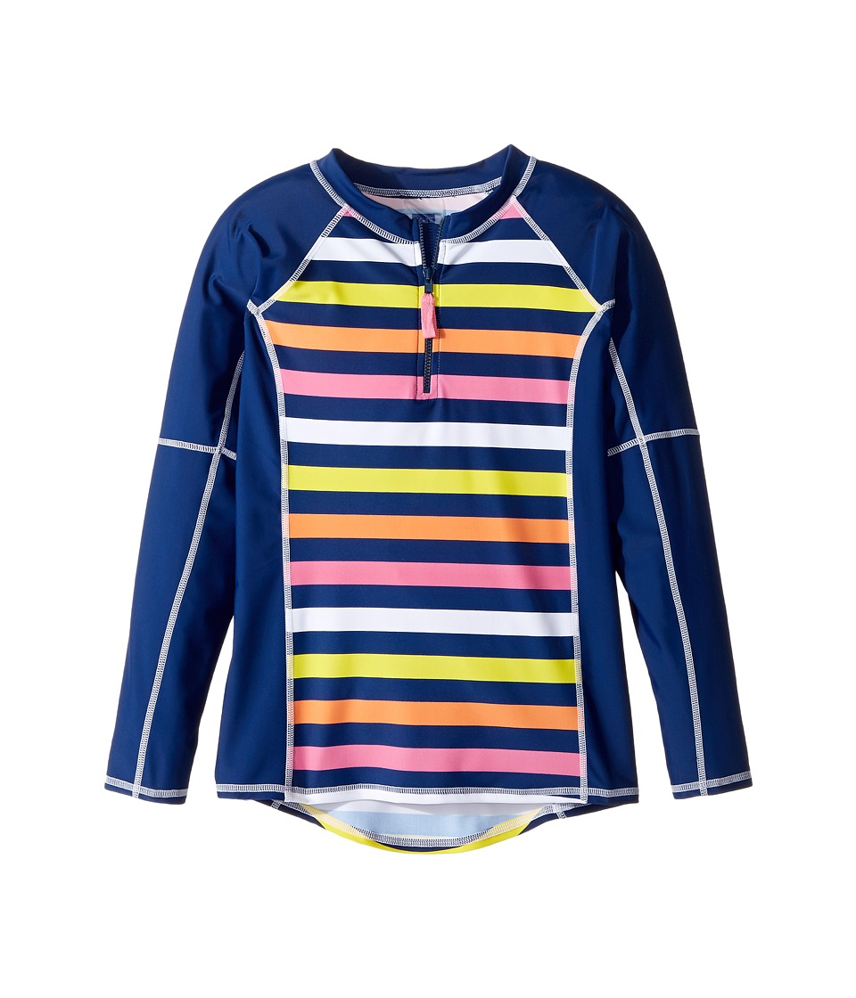 Toobydoo - Santa Monica Stripe Rashguard (Infant/Toddler/Little Kids/Big Kids) (Multi Stripe) Girl's Swimwear