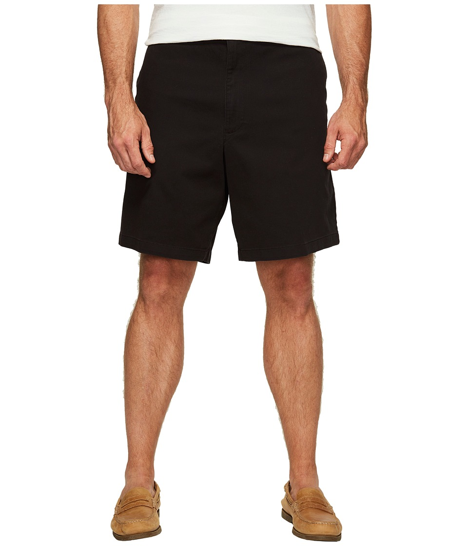 Dockers - Big Tall Flat Front Shorts (Black) Men's Shorts
