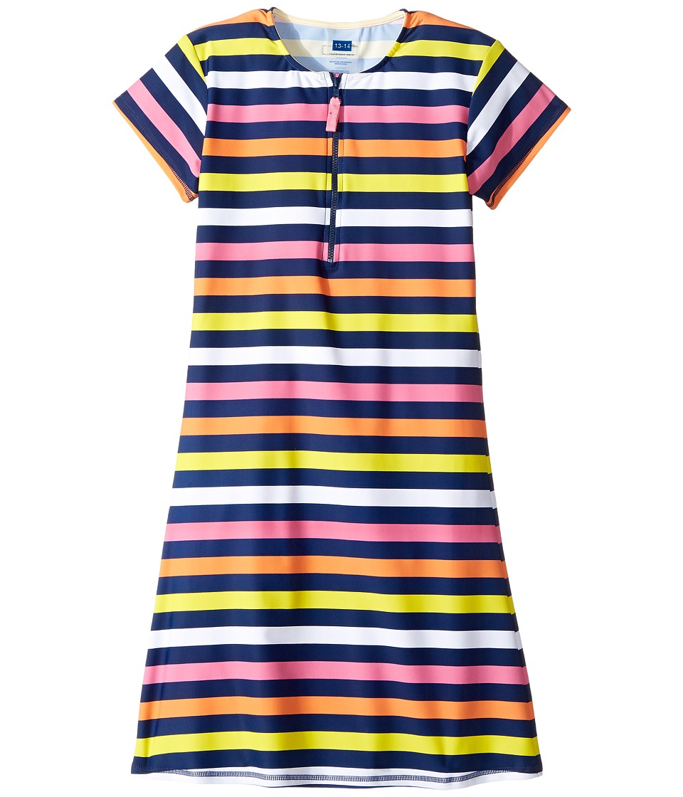 Toobydoo - Santa Monica Stripe Rashguard Dress (Infant/Toddler/Little Kids/Big Kids) (Multi Stripe) Girl's Dress