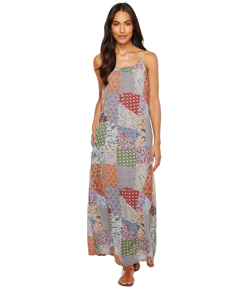 Dylan by True Grit - Cate Crossroads Maxi Dress w/ Pockets (Denim Blue) Women's Dress