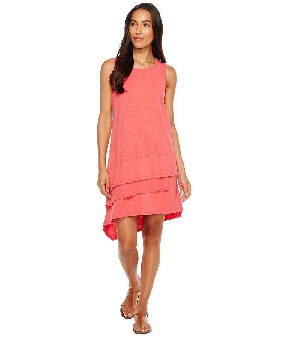 Dylan by True Grit - Luxe Cotton Slub 3 Tier Tank Dress (Sailor Red) Women's Dress