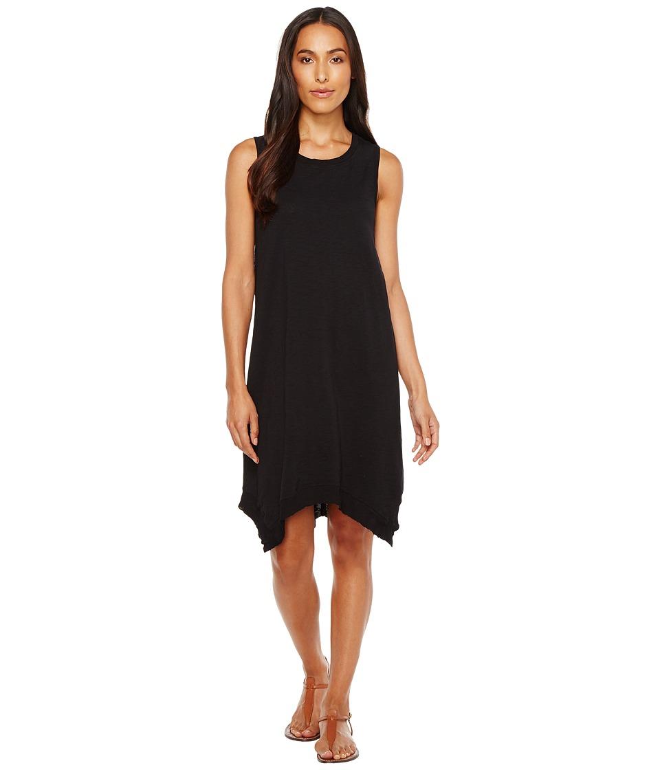 Dylan by True Grit - Summer Slub Hanky Hem Dress (Black) Women's Dress