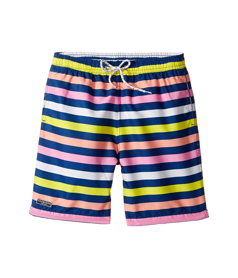 Toobydoo - Lime Rock Boardshorts (Infant/Toddler/Little Kids/Big Kids) (Multi Stripe) Boy's Swimwear