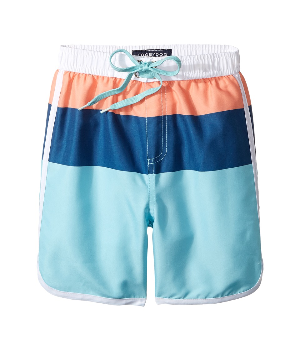 Toobydoo - Bondi Beach Swim Shorts (Infant/Toddler/Little Kids/Big Kids) (Orange/Navy/Aqua) Boy's Swimwear