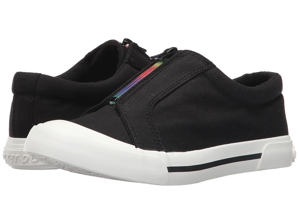 Rocket Dog - Joanel (Black 8A Canvas/Rainbow Zip) Women's Shoes