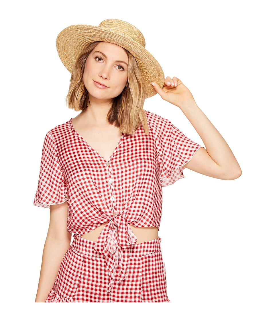 Show Me Your Mumu - Tortuga Tie Top (Cherry Pie Gingham Gauze) Women's Clothing