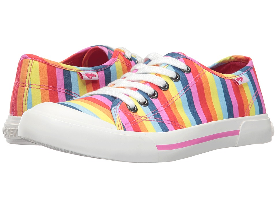 Rocket Dog - Jumpin (Pink Multi Spicy Stripe) Women's Lace up casual Shoes