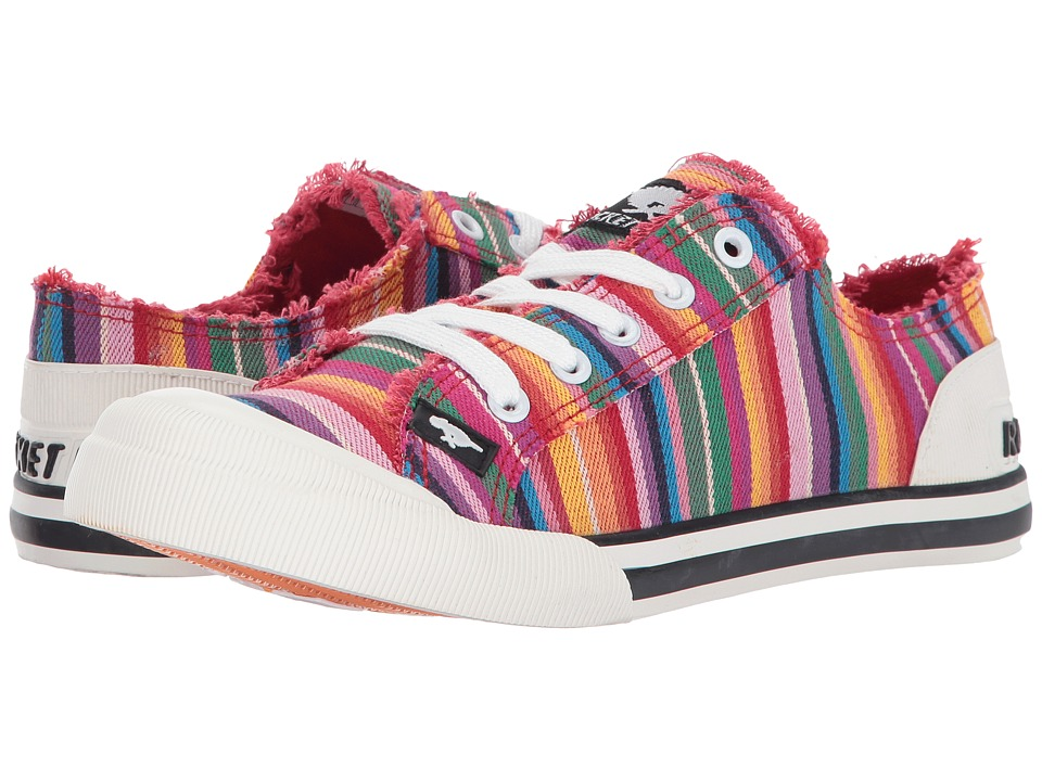 Rocket Dog - Jazzin (Red Multi Eden Stripe) Women's Lace up casual Shoes