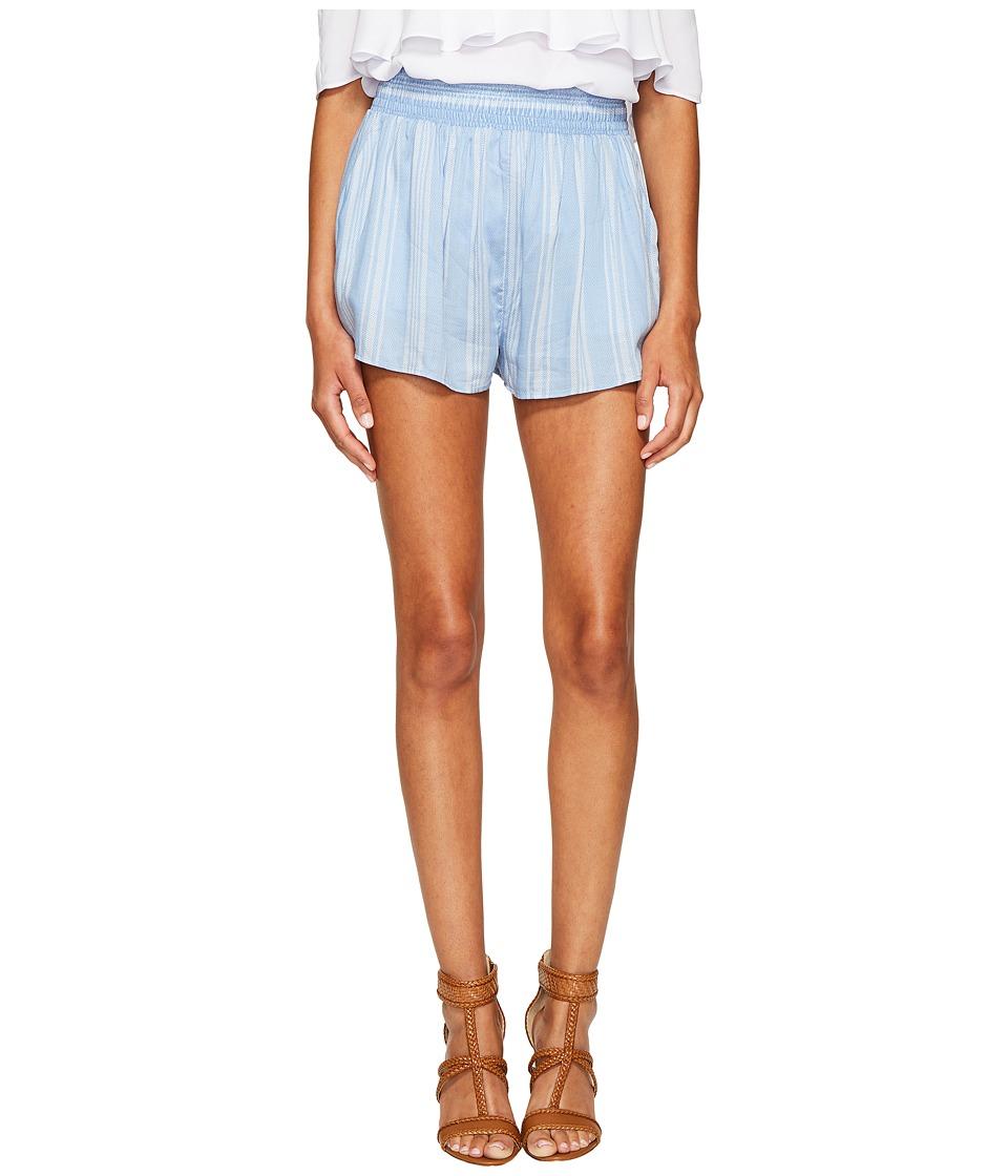 Show Me Your Mumu - Serena Smocked Shorts (Sidewalk Stripe Periwinkle) Women's Shorts