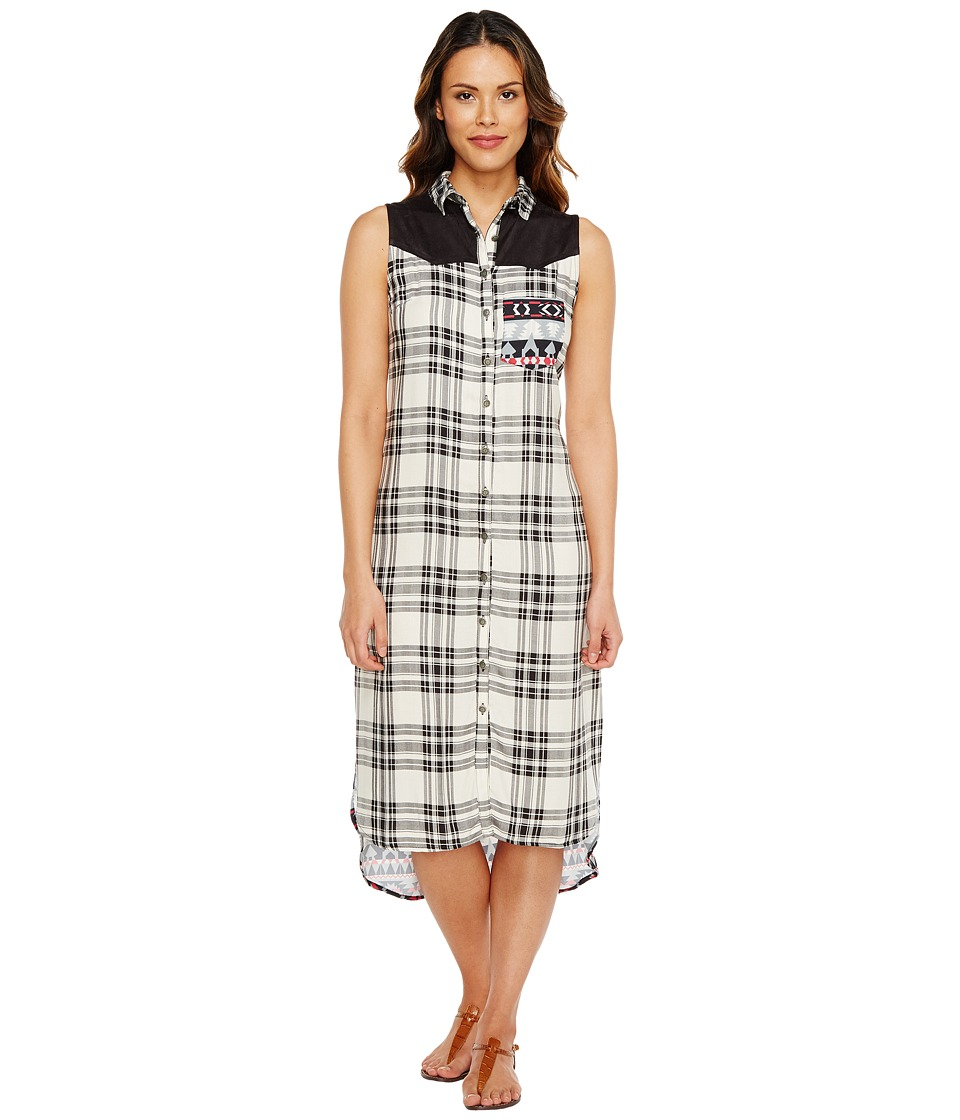 Tasha Polizzi - Insta Plaid Maxi (White) Women's Dress