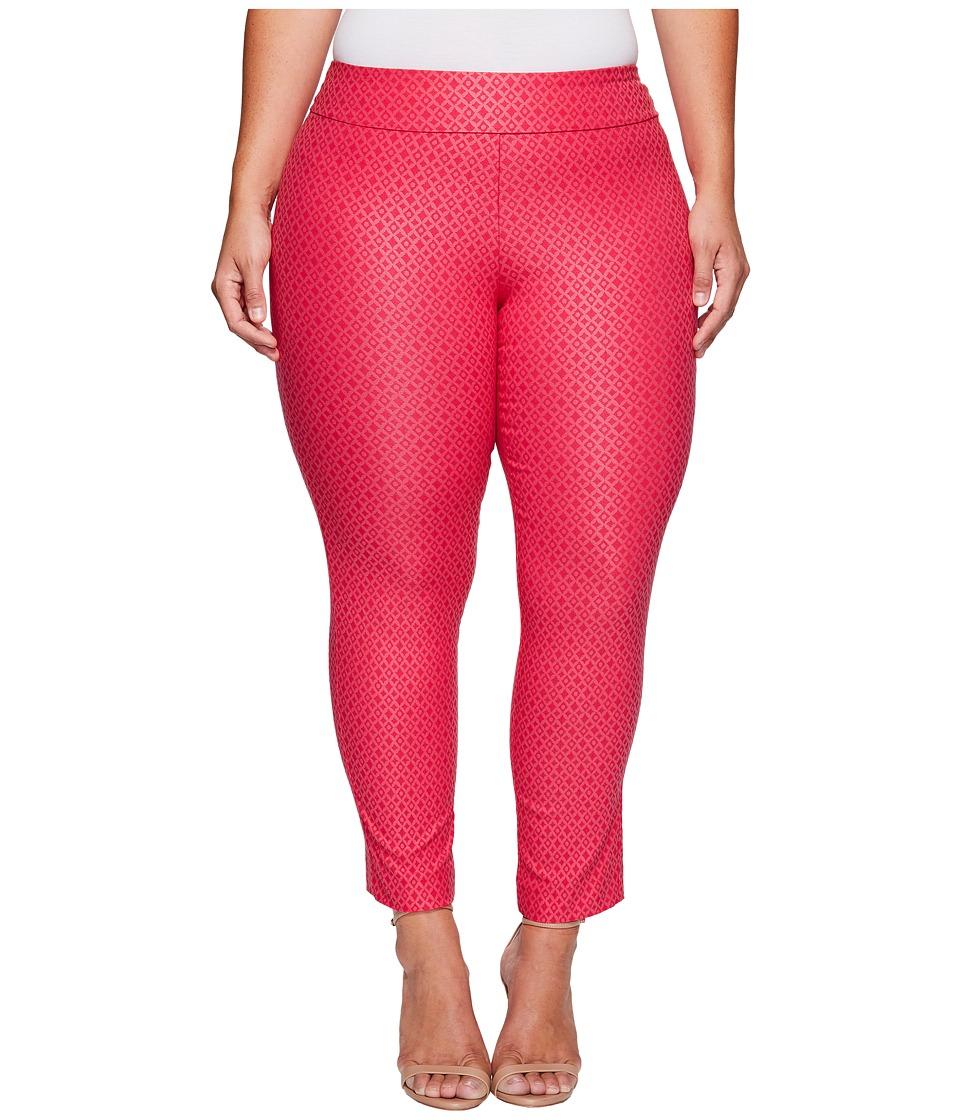 Krazy Larry - Plus Size Pull-On Ankle Pants (Pink Foil) Women's Dress Pants