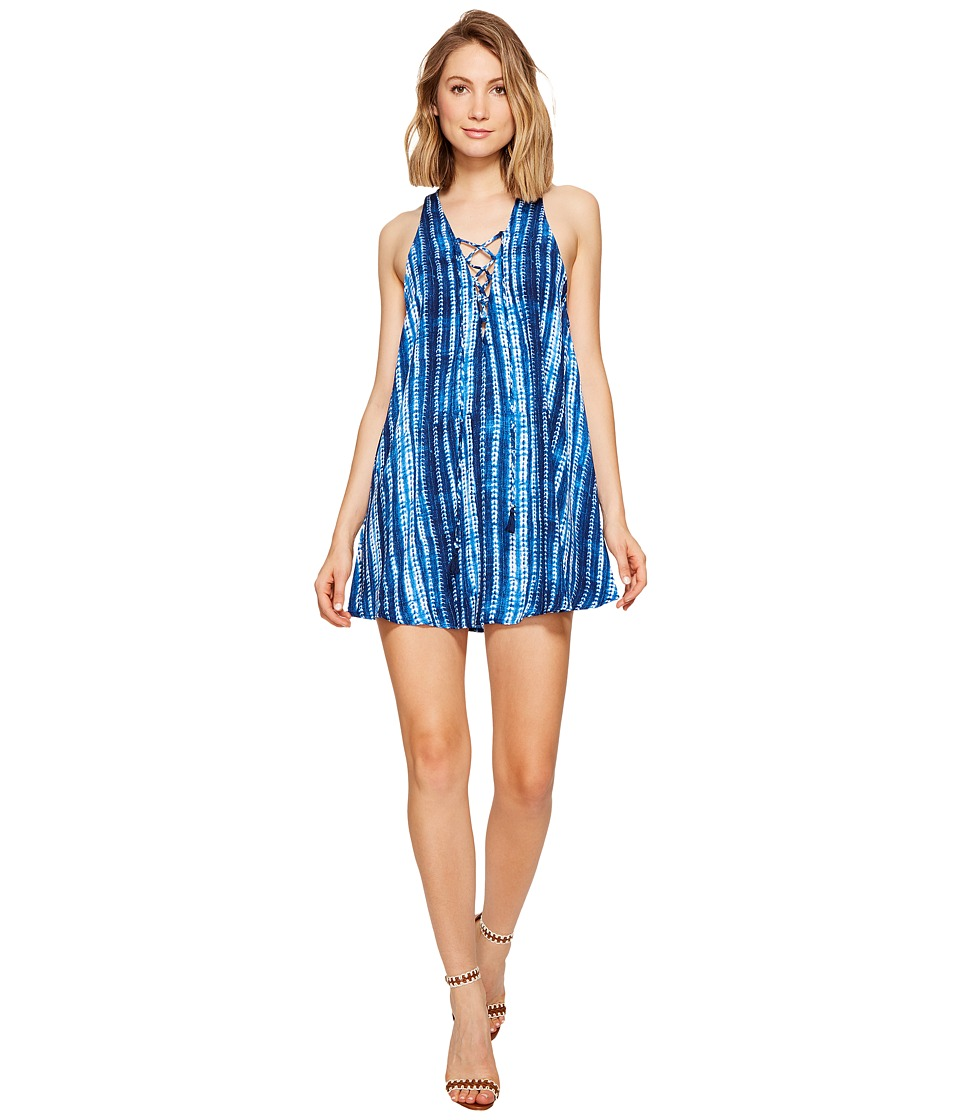 Show Me Your Mumu Rancho Mirage Lace-Up Tunic Dress (Indigo Rain) Women