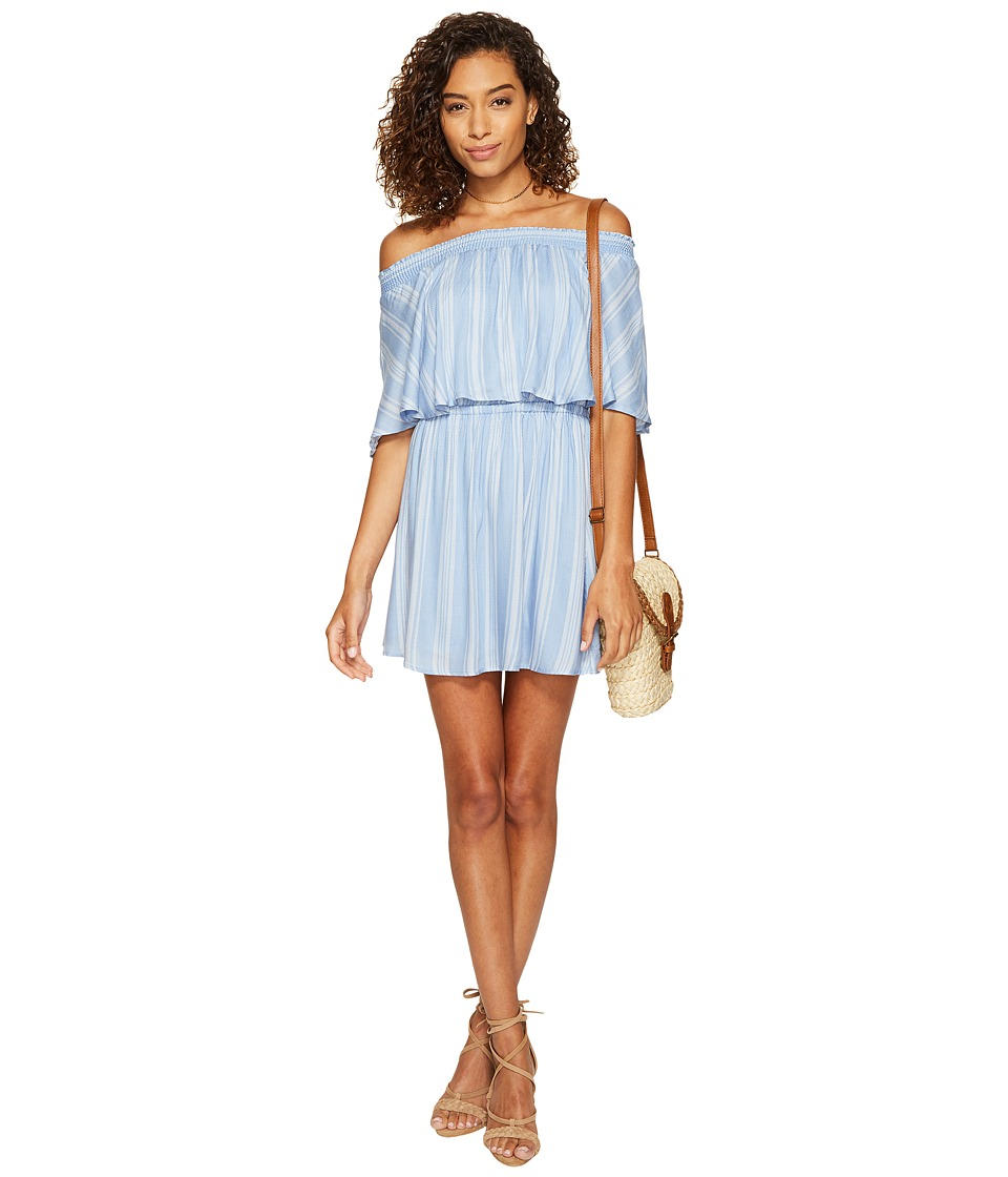 Show Me Your Mumu - Casita Mini Dress (Sidewalk Stripe Periwinkle) Women's Dress
