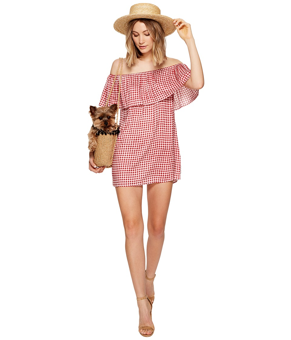 Show Me Your Mumu - Can Can Dress (Cherry Pie Gingham Gauze) Women's Dress