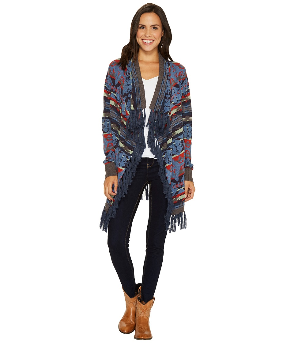 Tasha Polizzi - Harvest Cardigan (Indigo) Women's Sweater