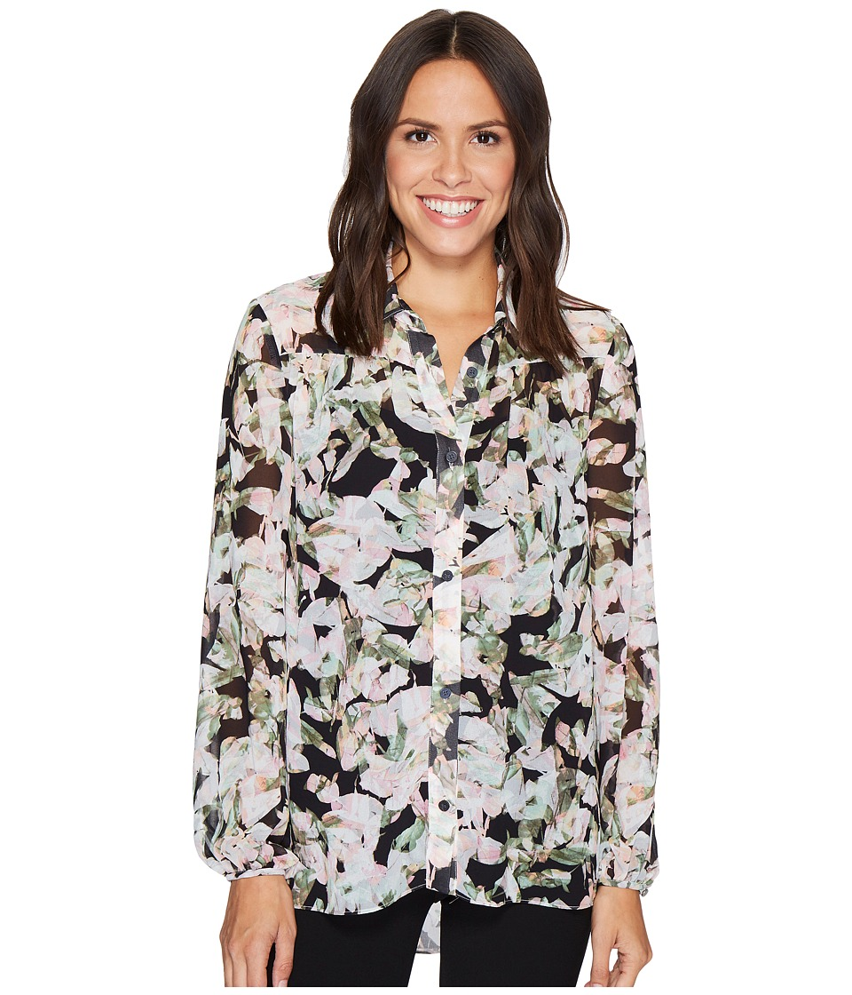 Ellen Tracy - Shirred Yoke Shirt (Botanical Multi) Women's Clothing