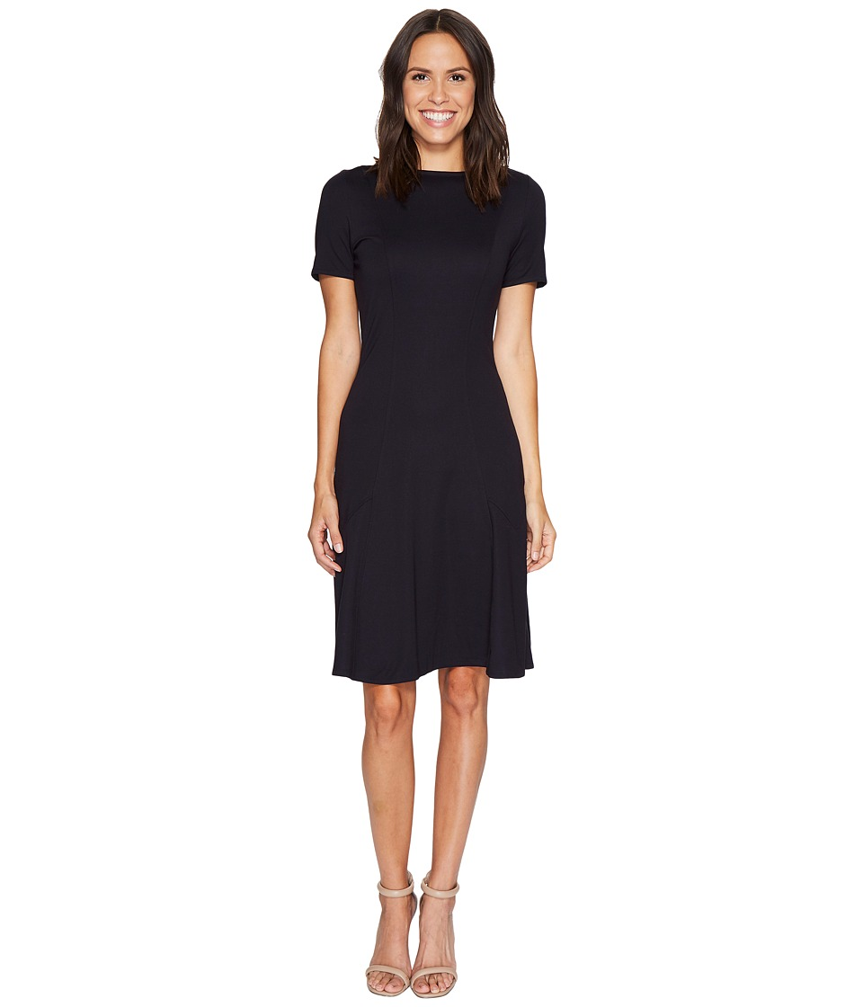 Ellen Tracy Seamed Knit Dress