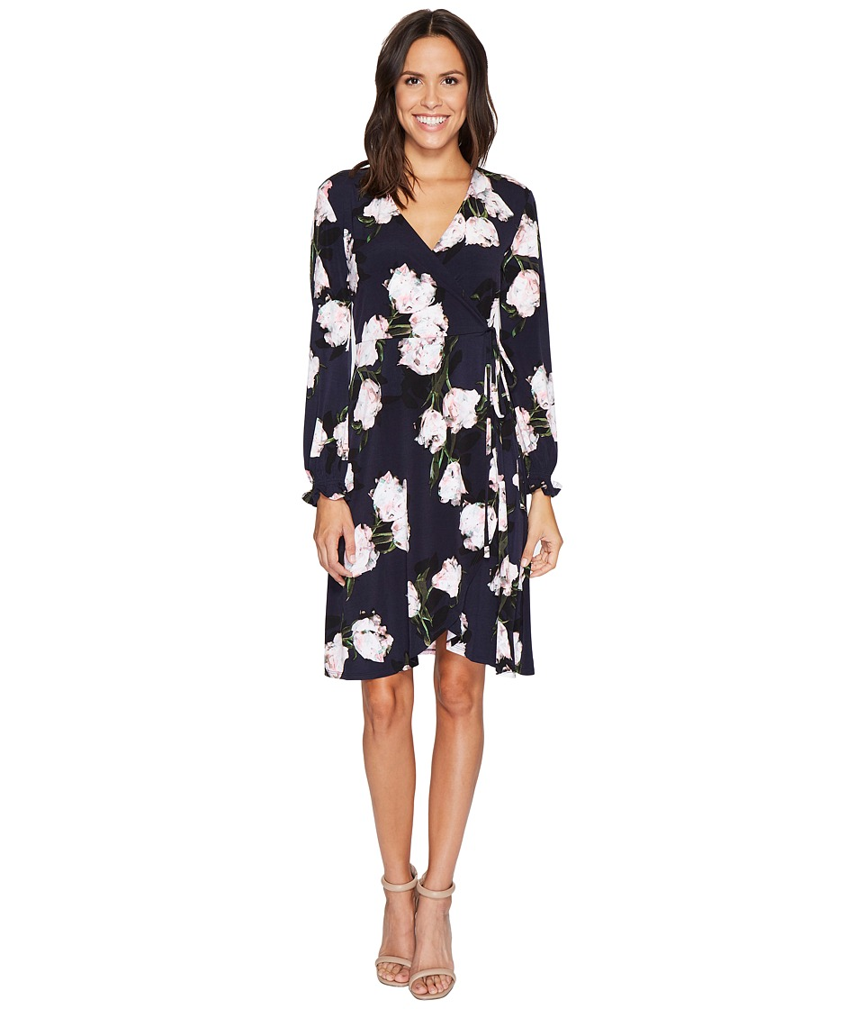 Ellen Tracy Full Sleeve Wrap Dress
