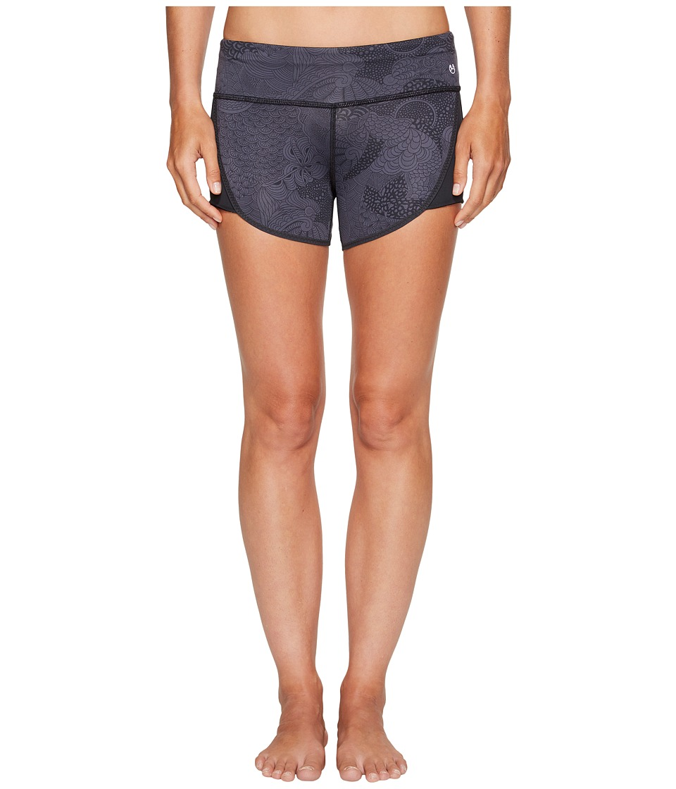 Maaji - Gray Photoplay Running Shorts (Black) Women's Swimwear